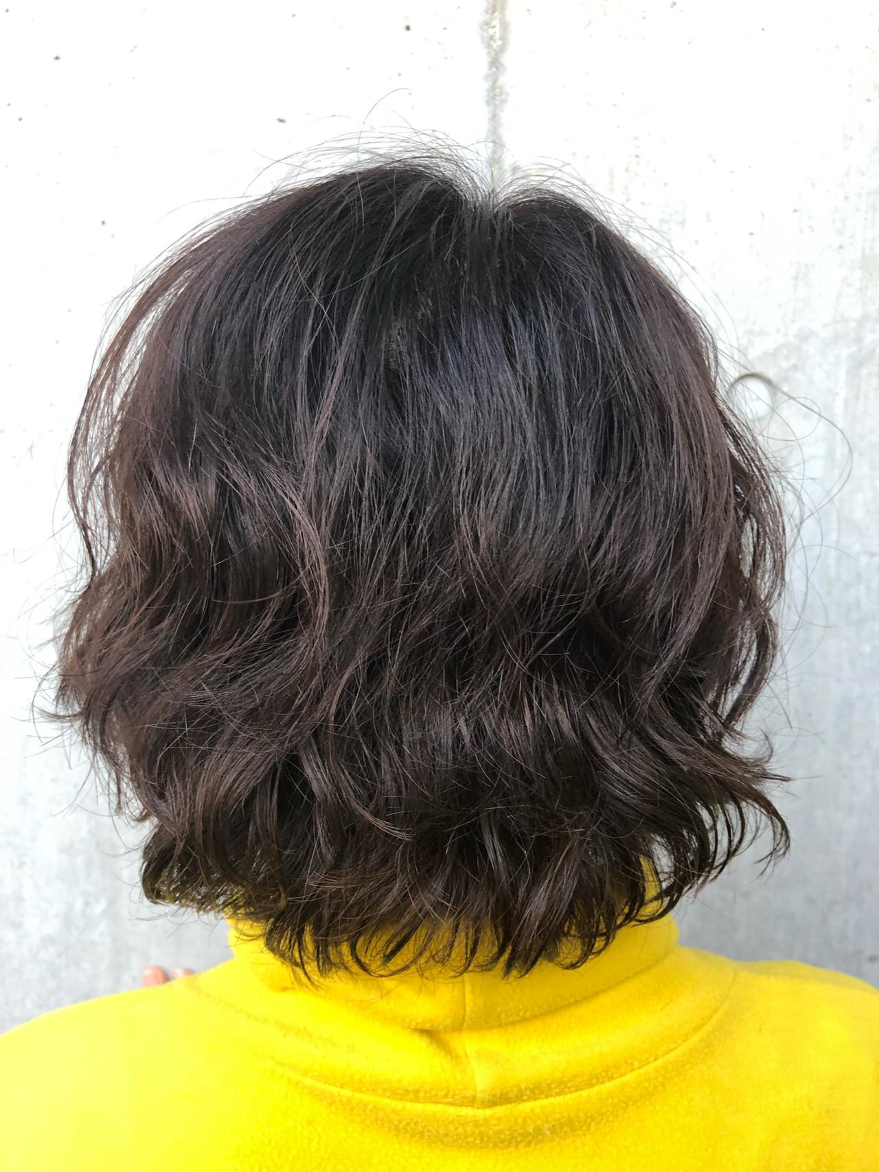 イルミナカラー 無造作パーマ 大人かわいい 外国人風カラー ヘアスタイルや髪型の写真・画像