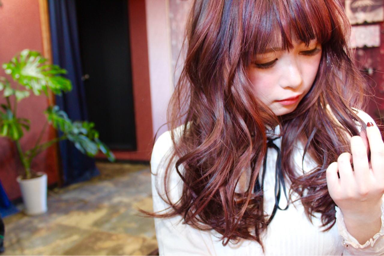 フェミニン バレイヤージュ ロング 外国人風 ヘアスタイルや髪型の写真・画像