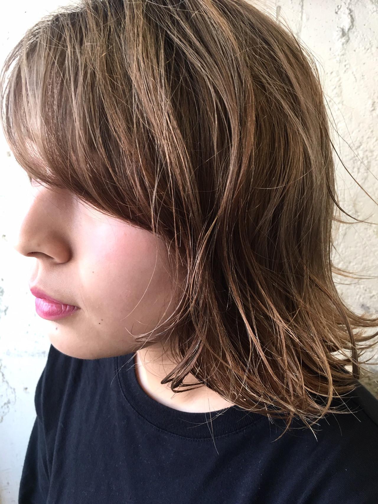 アンニュイほつれヘア ボブ パーマ アウトドア ヘアスタイルや髪型の写真・画像