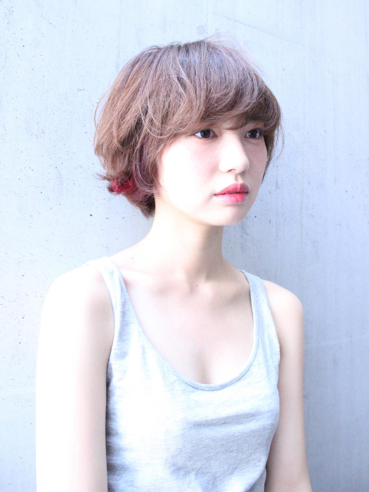 透明感 外国人風 インナーカラー くせ毛風 ヘアスタイルや髪型の写真・画像 | 上田智久 / ooit 福岡 天神 / ooit