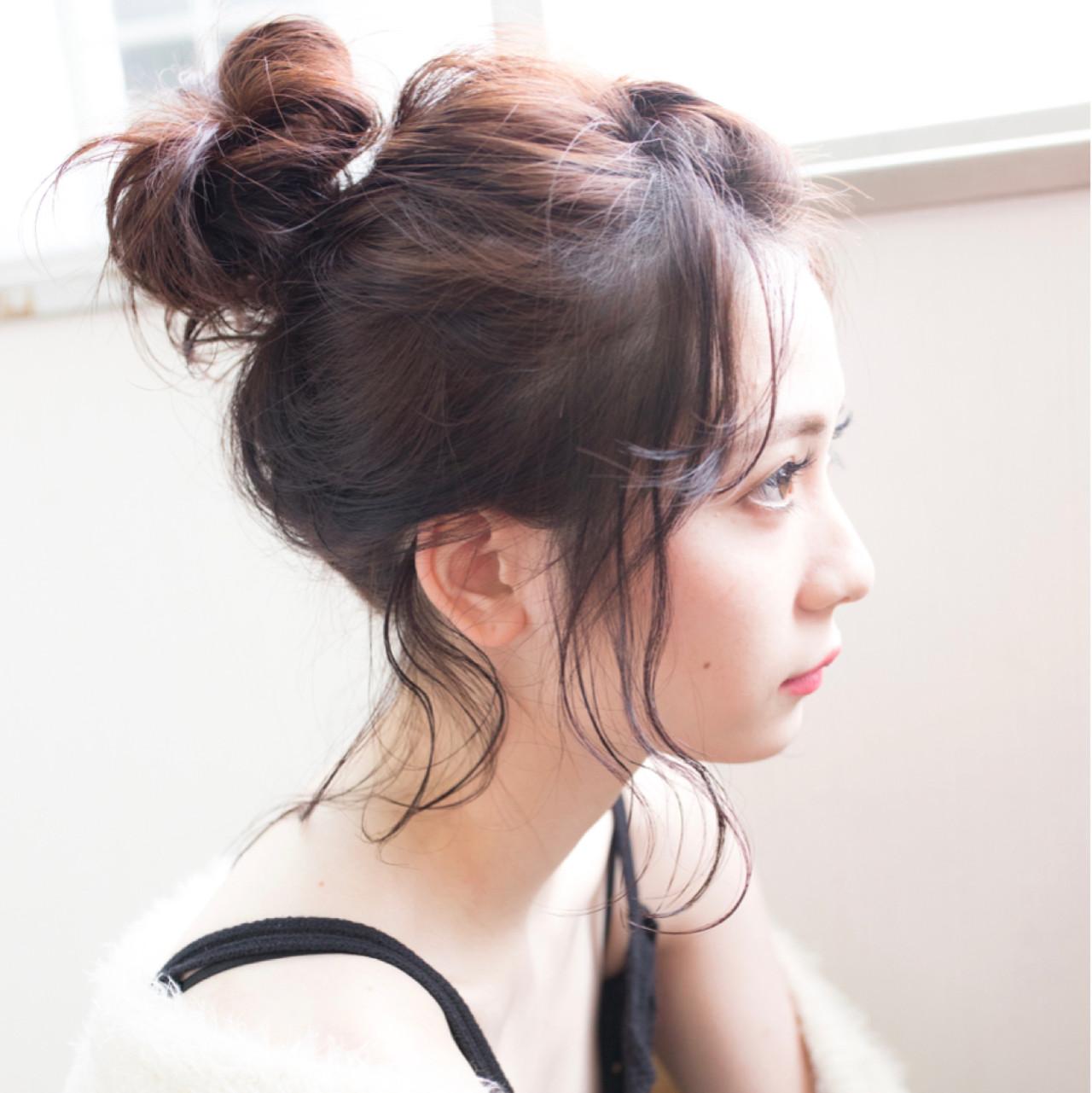 ナチュラル ゆるふわ 愛され 簡単ヘアアレンジ ヘアスタイルや髪型の写真・画像