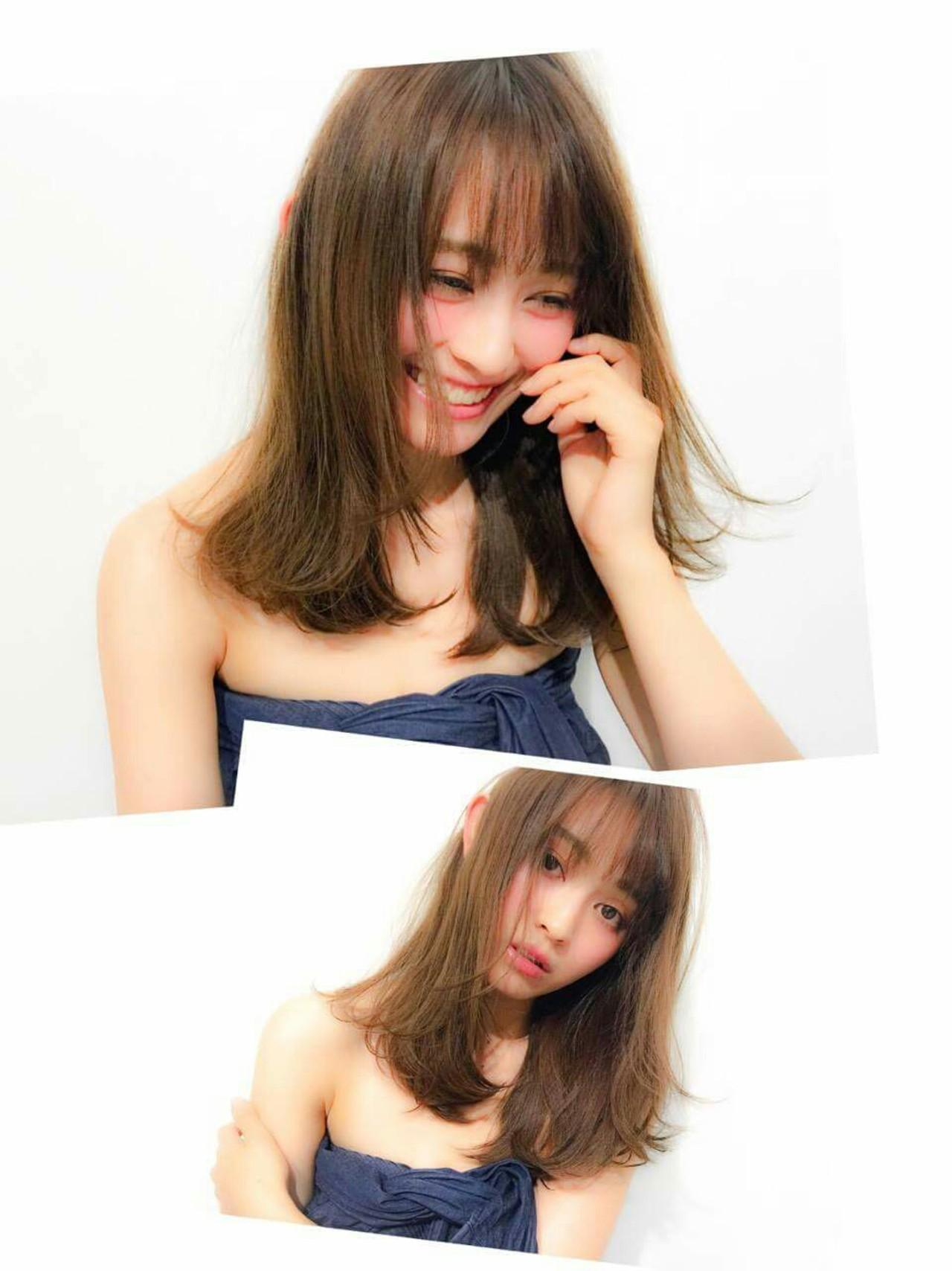大人かわいい モテ髪 フェミニン 愛され ヘアスタイルや髪型の写真・画像 | 前川 香緒里 /