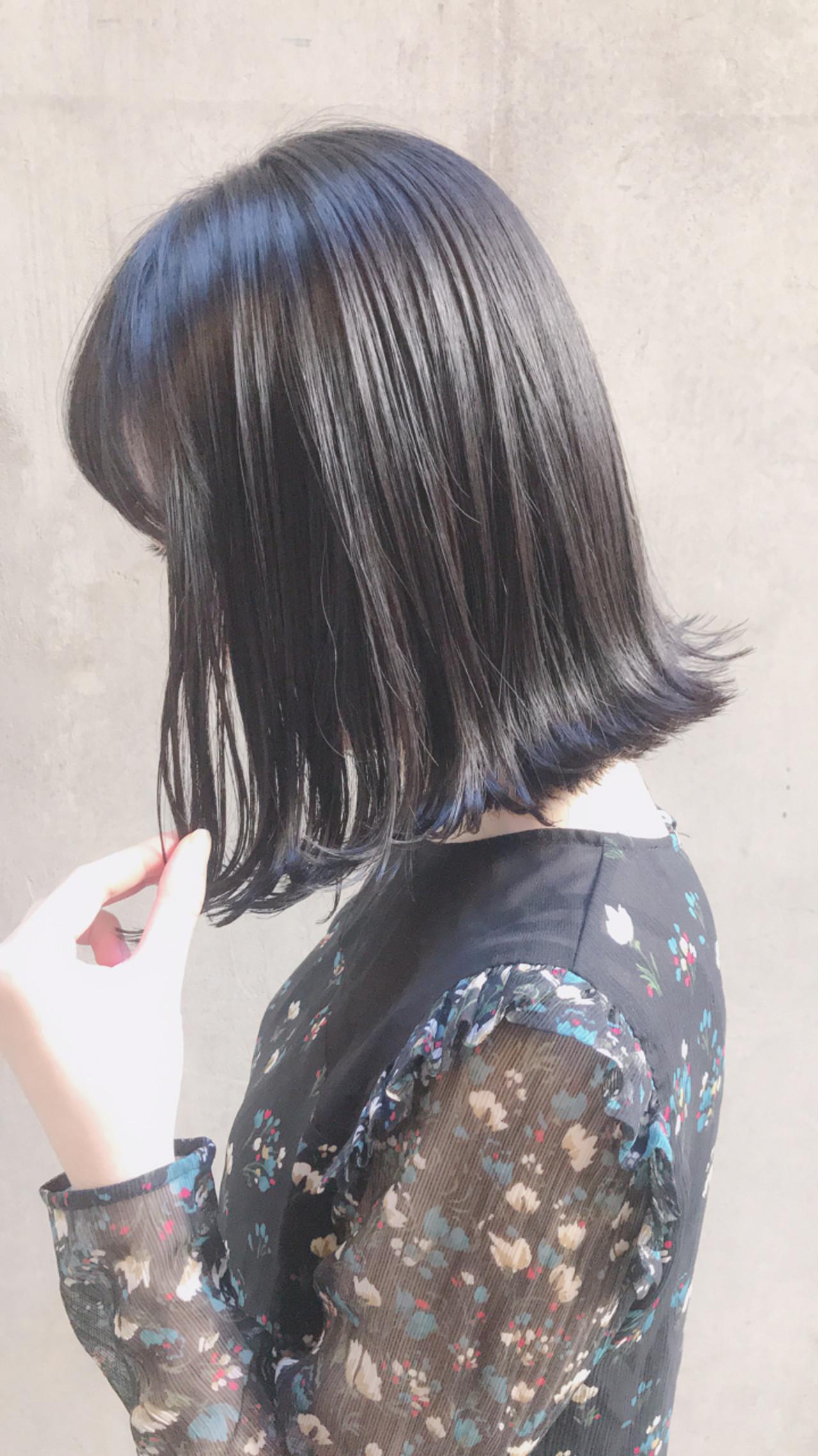 外ハネ パーマ ナチュラル 切りっぱなし ヘアスタイルや髪型の写真・画像   Tierra / 町田雄一 / Tierra harajuku