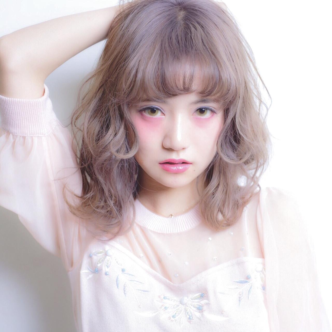 かわいい 外国人風 ガーリー グラデーションカラー ヘアスタイルや髪型の写真・画像
