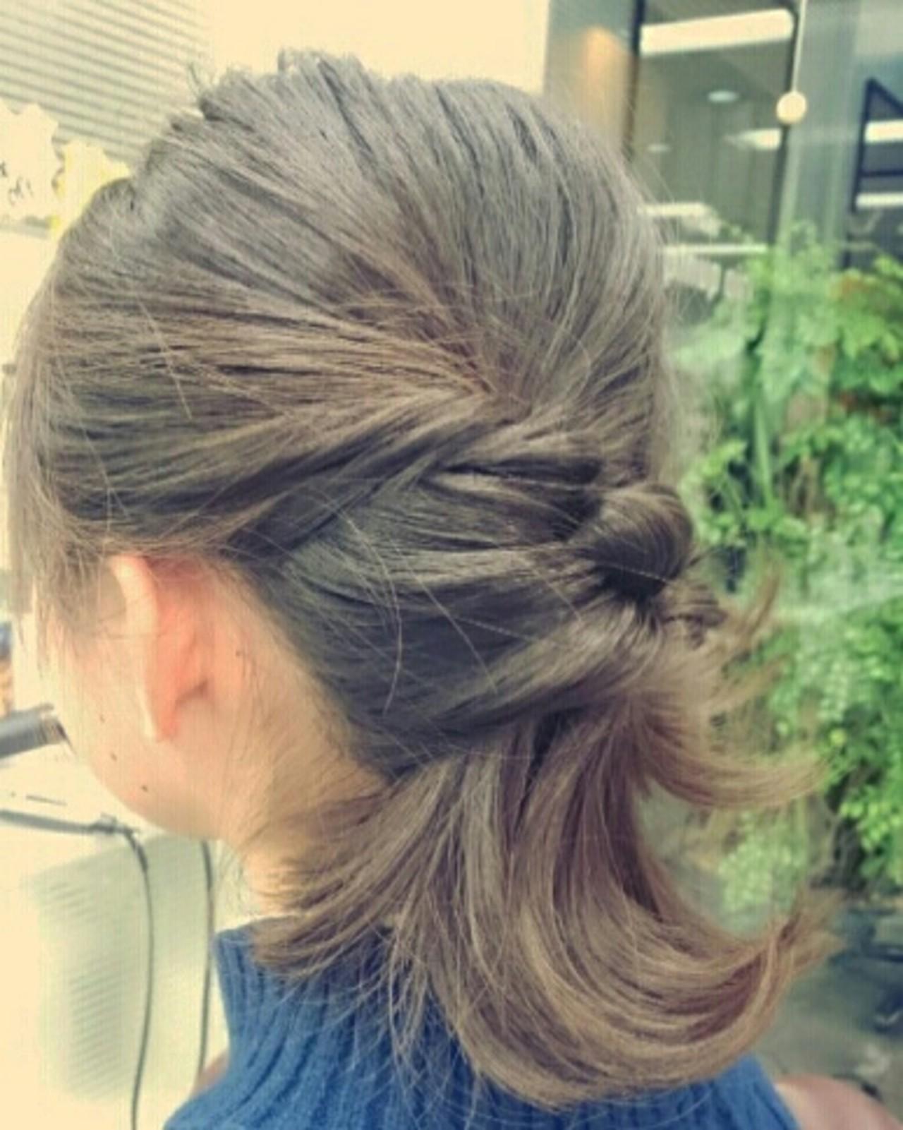 カール ナチュラル くるりんぱ ミディアム ヘアスタイルや髪型の写真・画像 | minori kato / pinup girl