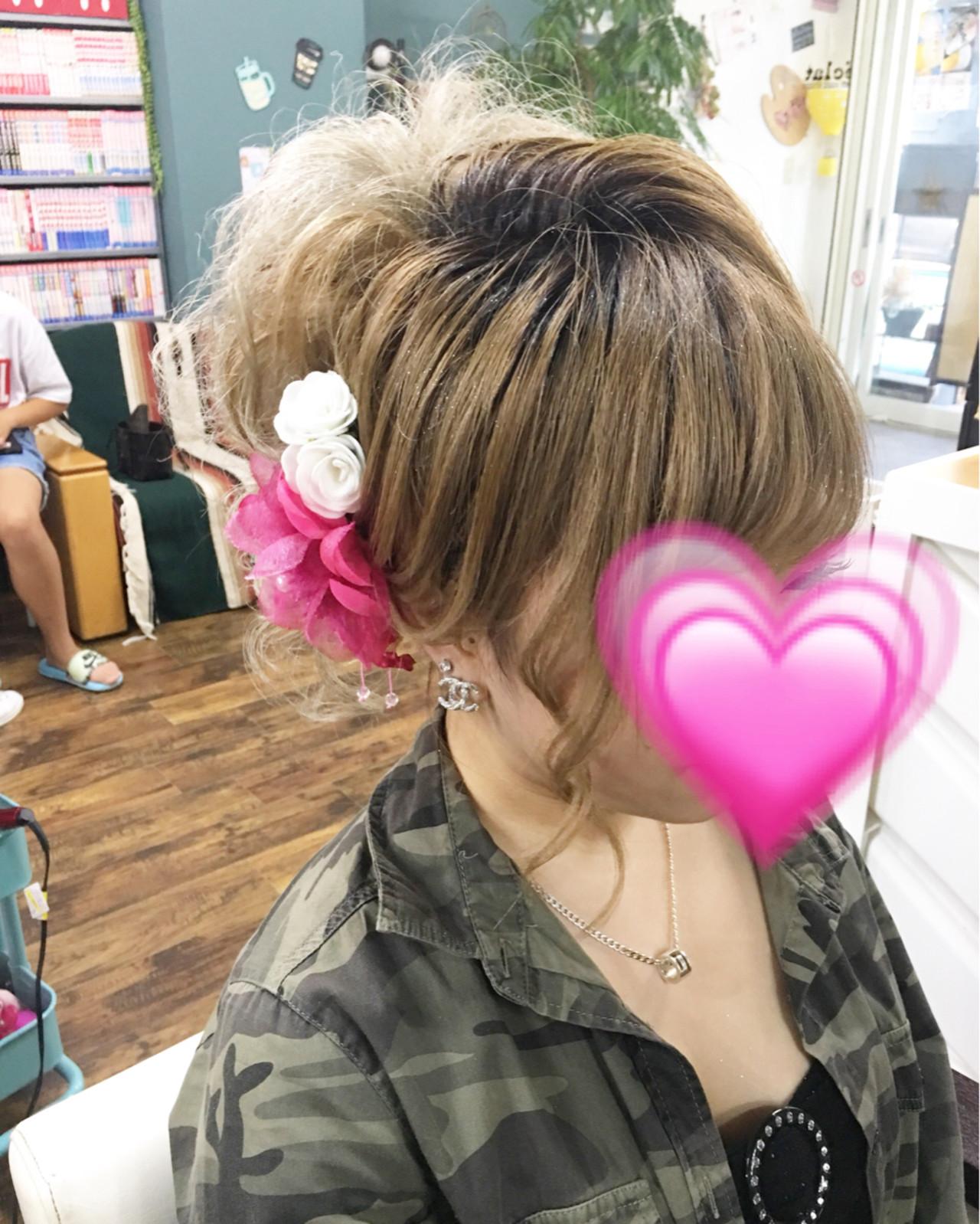ヘアアレンジ ロング 女子力 着物 ヘアスタイルや髪型の写真・画像