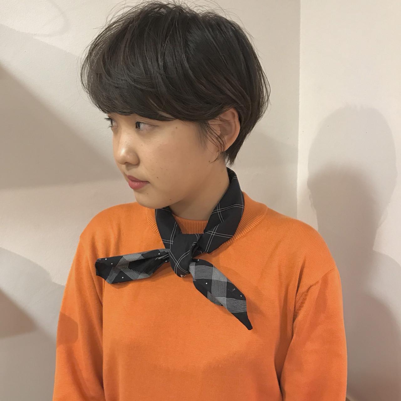 マッシュ ショートボブ ショート 黒髪 ヘアスタイルや髪型の写真・画像 | KENTO.NOESALON / NOE SALON