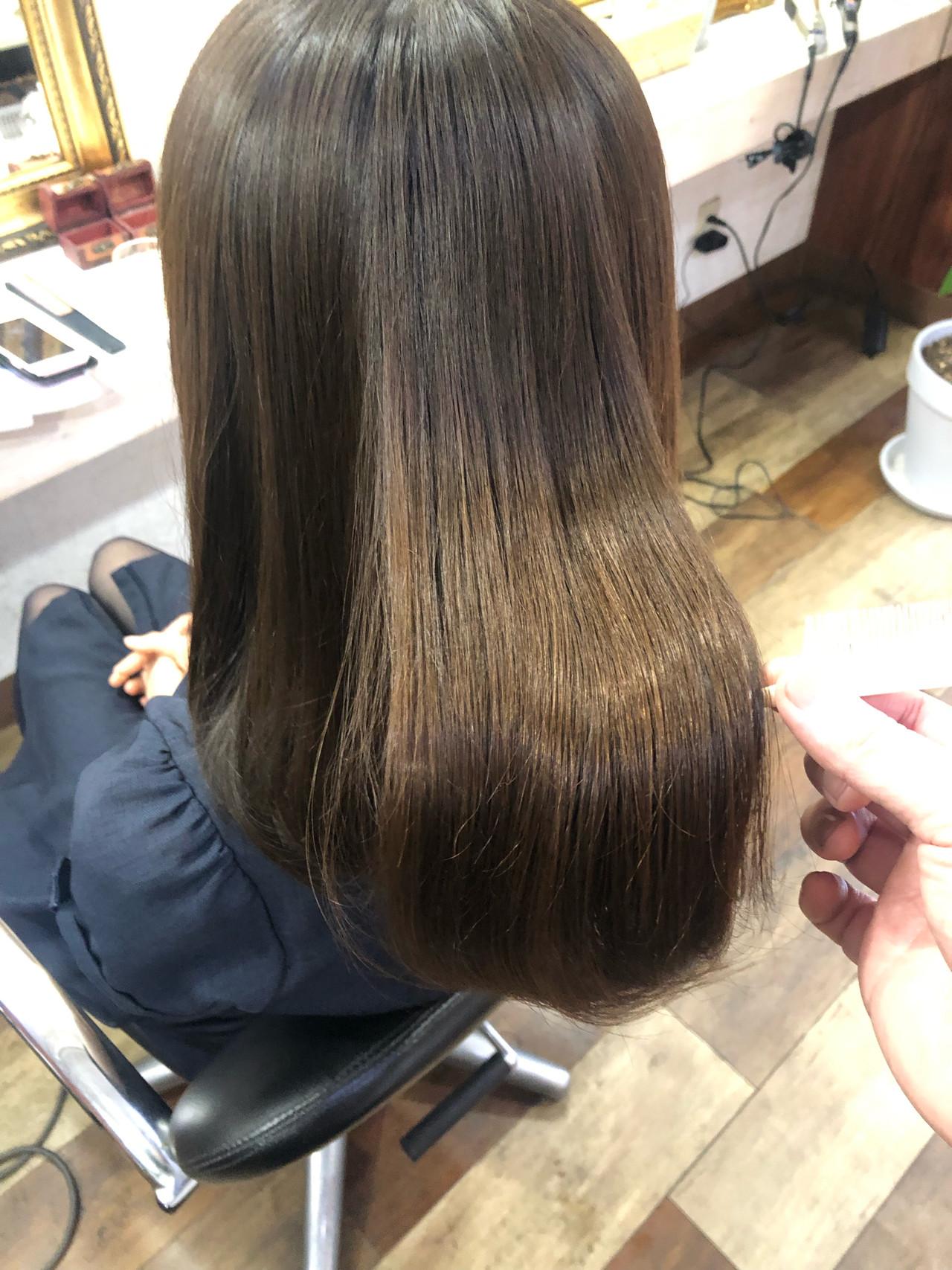 美髪 髪質改善 髪質改善カラー 髪質改善トリートメント ヘアスタイルや髪型の写真・画像