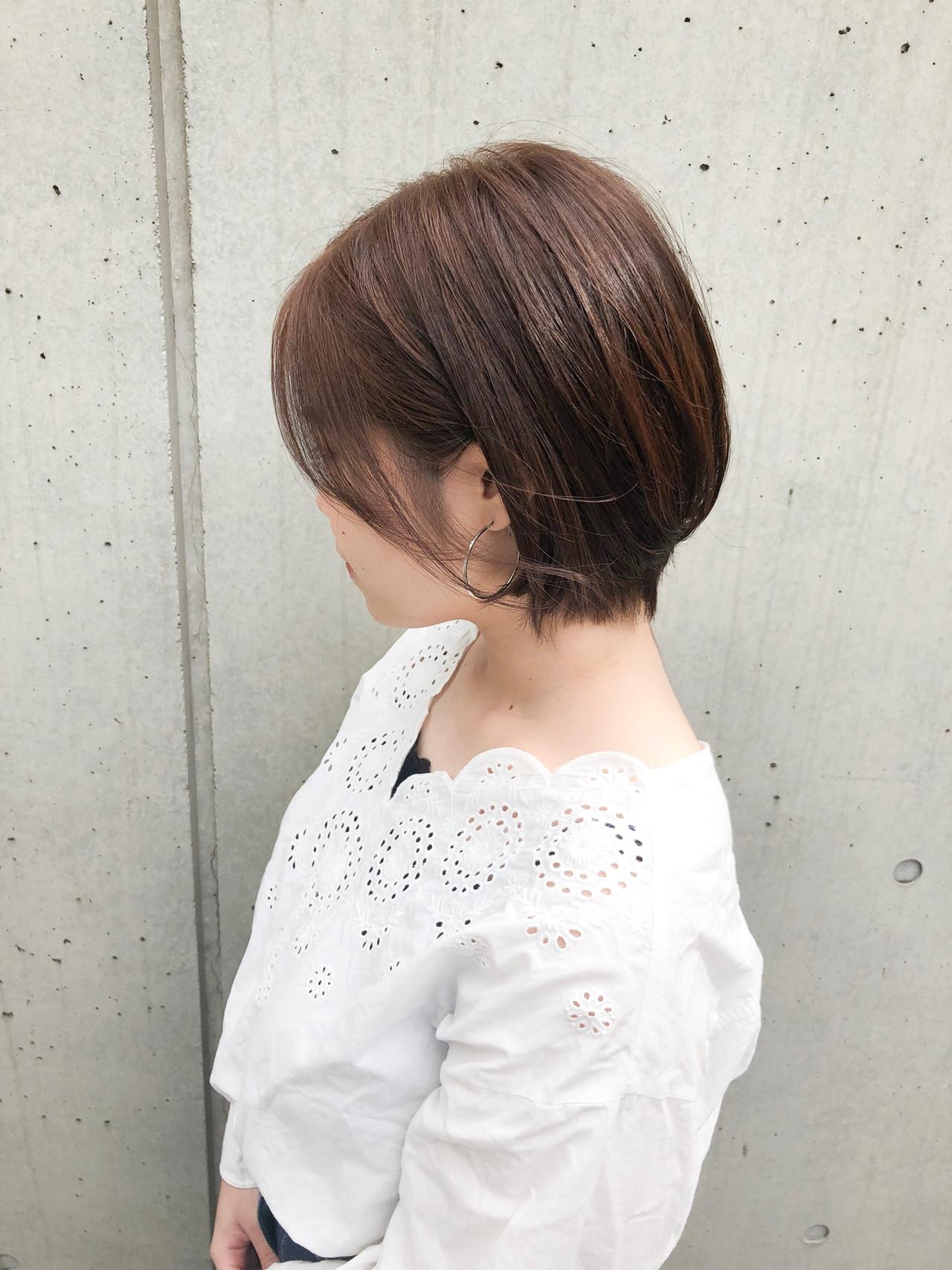 ショート ベリーショート ナチュラル ミニボブ ヘアスタイルや髪型の写真・画像   安井拓磨 / piece201