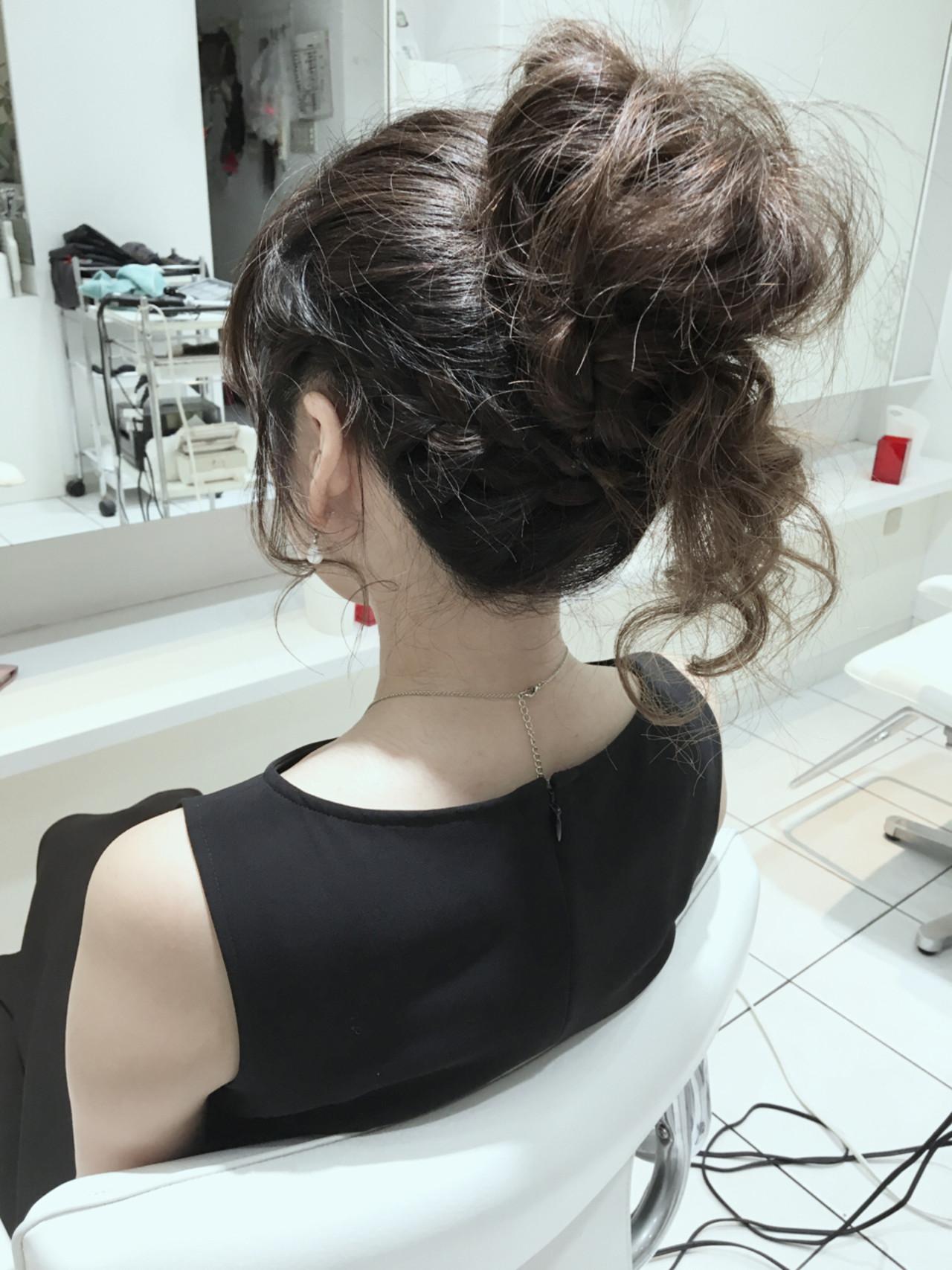 ハーフアップ ヘアアレンジ セミロング 簡単ヘアアレンジ ヘアスタイルや髪型の写真・画像   石田裕紀 / Baroque 立川 newtonグループ