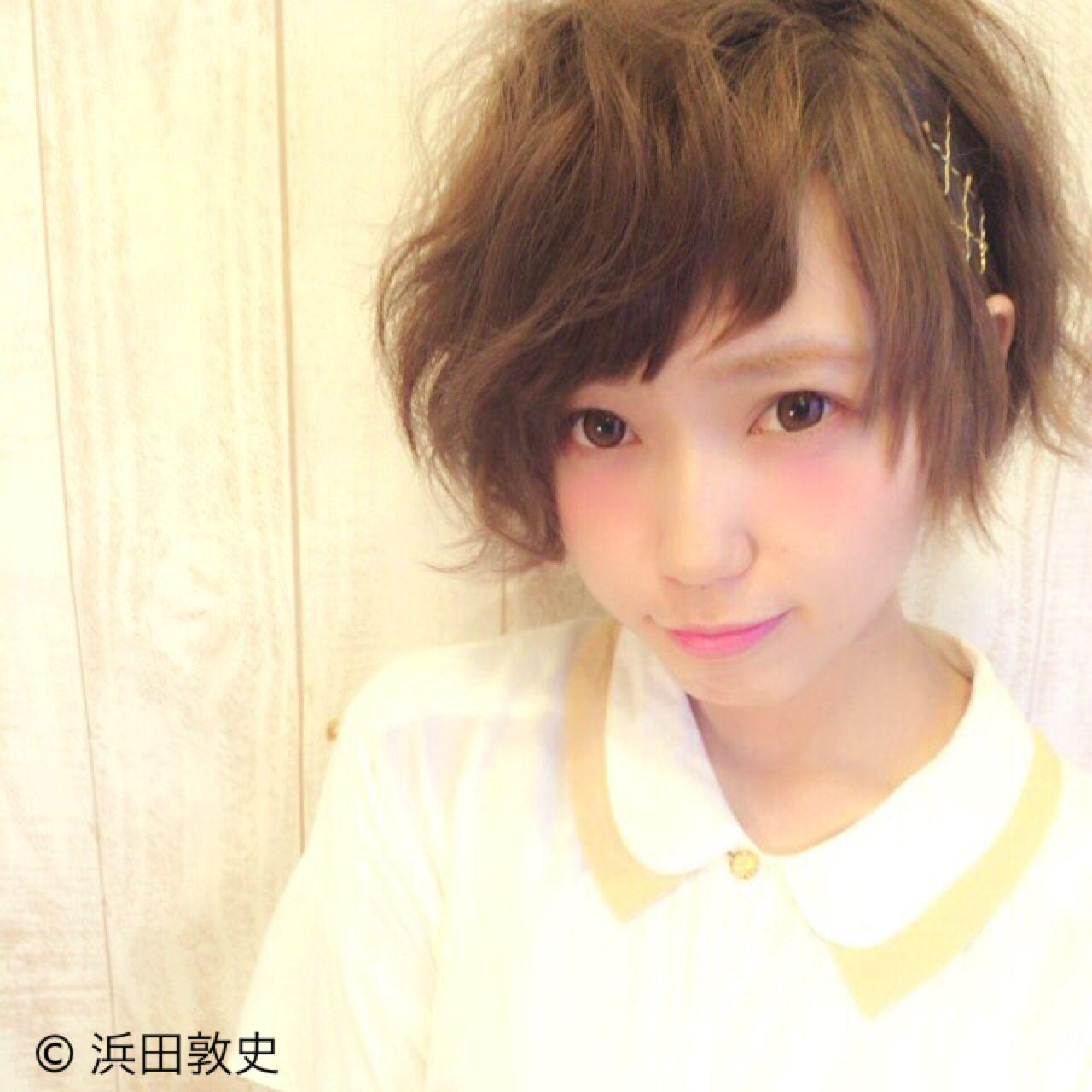 ショート ヘアアレンジ ストリート 卵型 ヘアスタイルや髪型の写真・画像 | 浜田敦史 / Tiffa栄