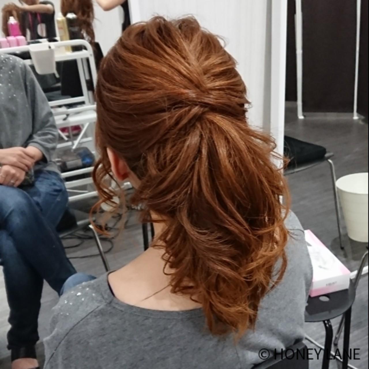 オフィス デート ミディアム ポニーテール ヘアスタイルや髪型の写真・画像   HONEY LANE / HONEY LANE