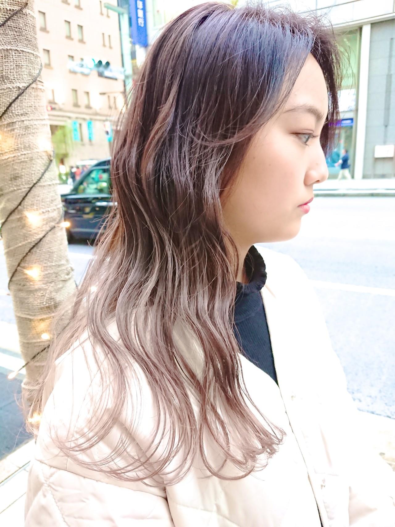 ブリーチ セミロング グラデーションカラー ストリート ヘアスタイルや髪型の写真・画像 | MATSUDA / HAIR DERA'S 中央通り店
