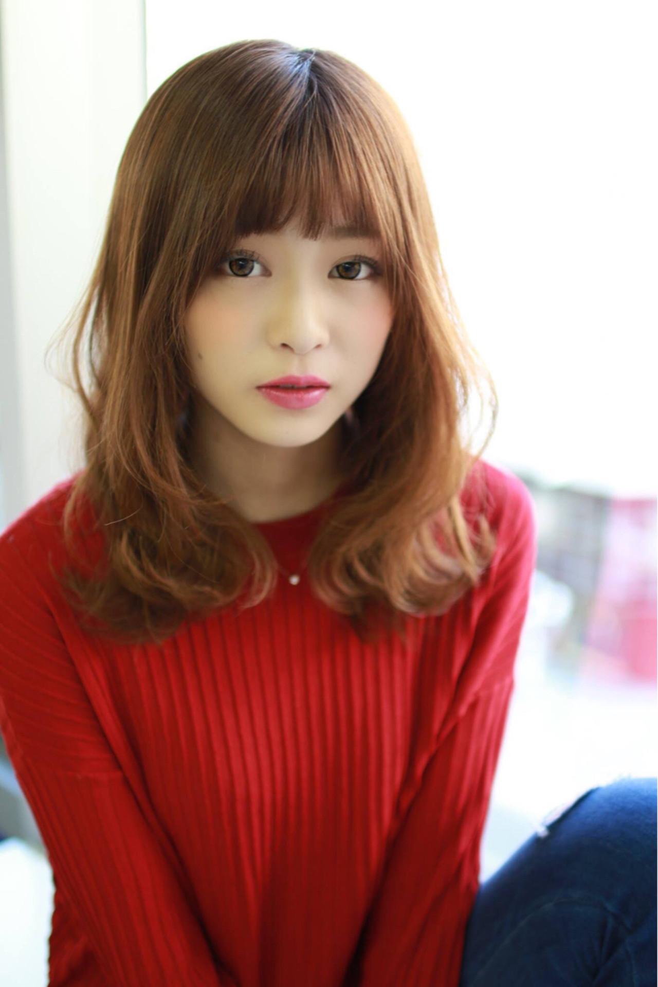 ゆるふわ フェミニン 小顔 セミロング ヘアスタイルや髪型の写真・画像 | 大柳 浩輝 / 美容室CINQ
