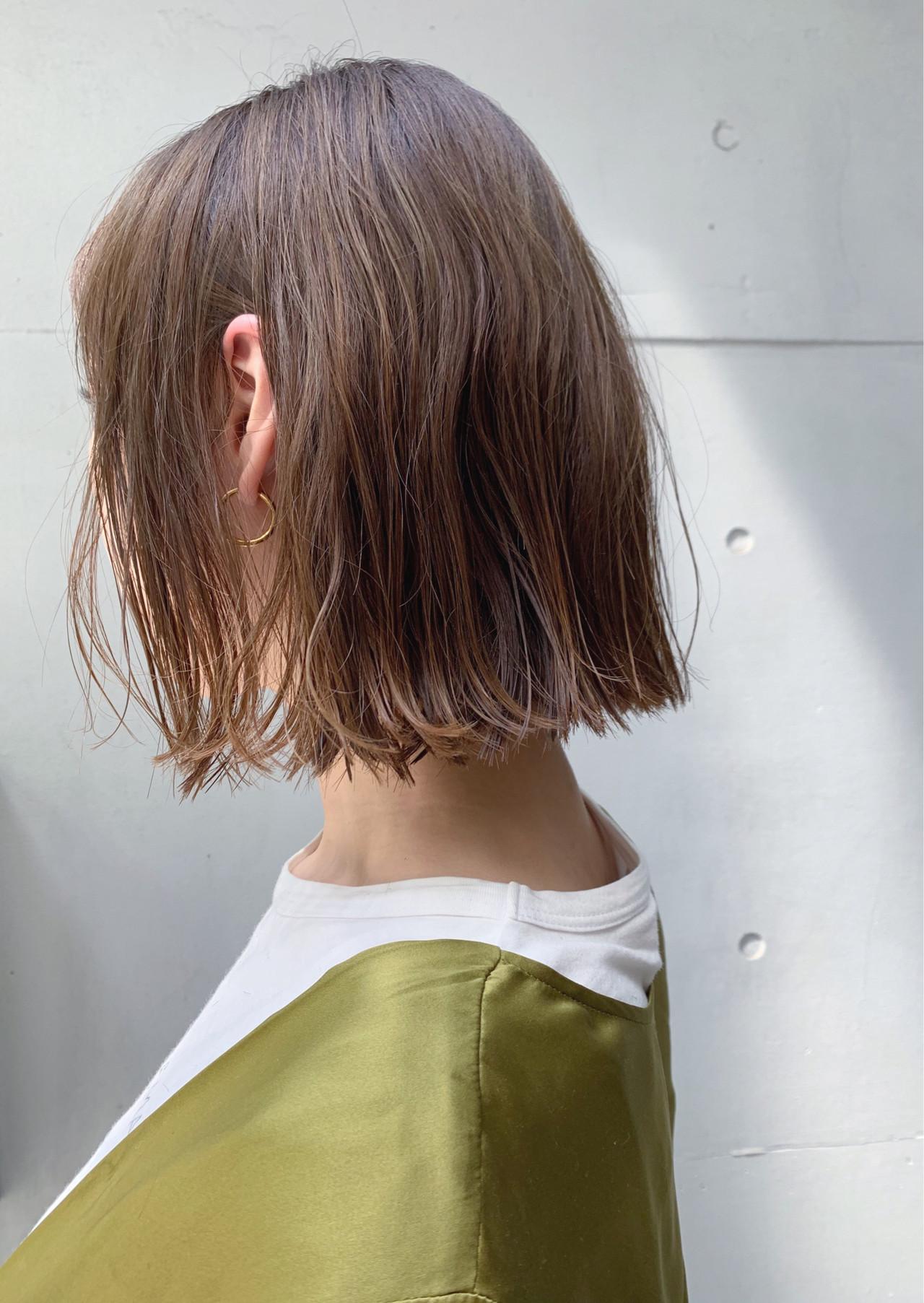 ボブ 簡単ヘアアレンジ パーマ デート ヘアスタイルや髪型の写真・画像
