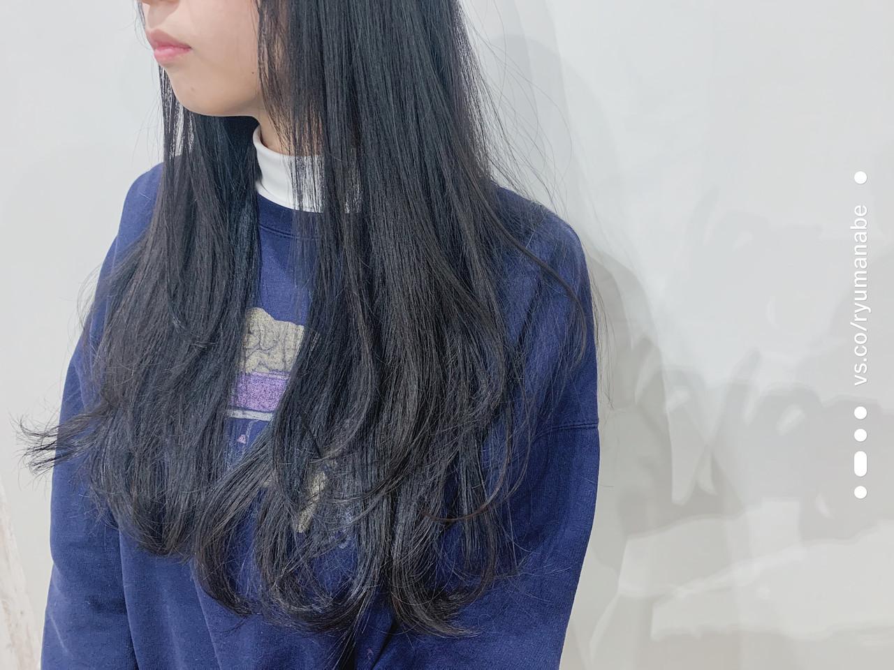 ロング ナチュラル ワンカール レイヤーカット ヘアスタイルや髪型の写真・画像
