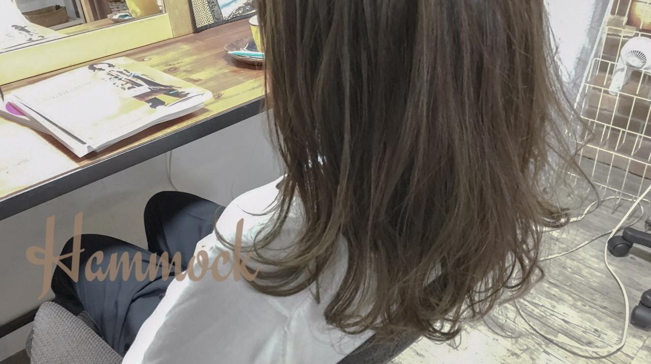 外国人風 ナチュラル グラデーションカラー ゆるふわ ヘアスタイルや髪型の写真・画像 | 貞本範子 / HamMocK hair cotage  ハンモックヘアーコテージ