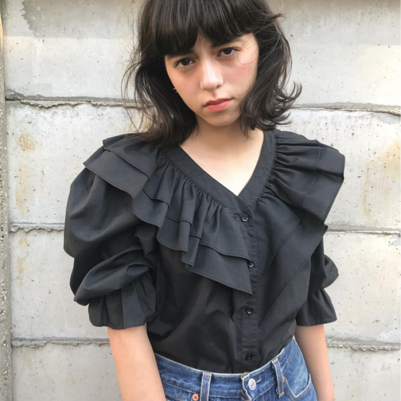 こなれ感 暗髪 外国人風カラー グレージュ ヘアスタイルや髪型の写真・画像 | 一色 さおり / LOAVE AOYAMA(ローブ アオヤマ)