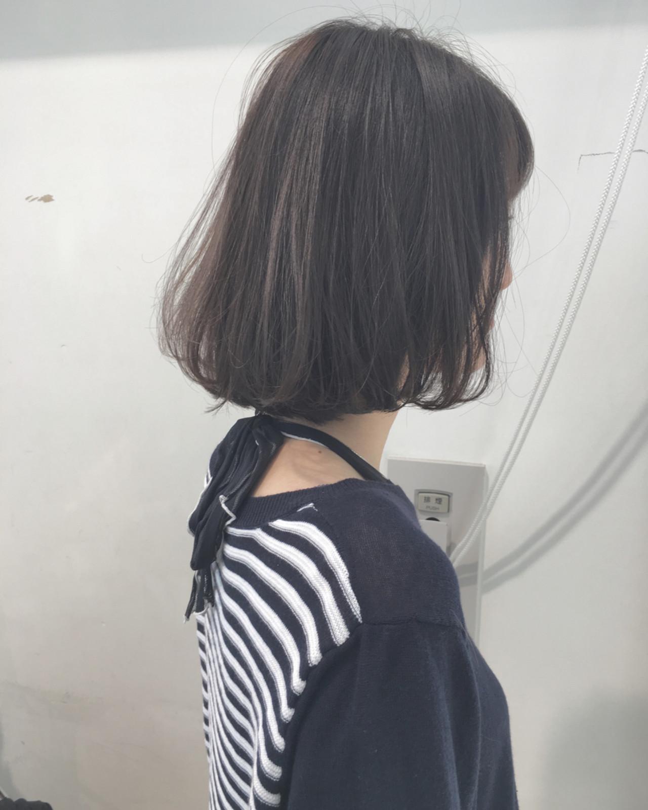 ボブ 大人女子 ナチュラル 大人かわいい ヘアスタイルや髪型の写真・画像