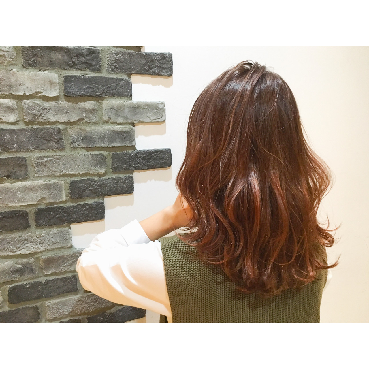 グラデーションカラー セミロング 外国人風 ストリート ヘアスタイルや髪型の写真・画像