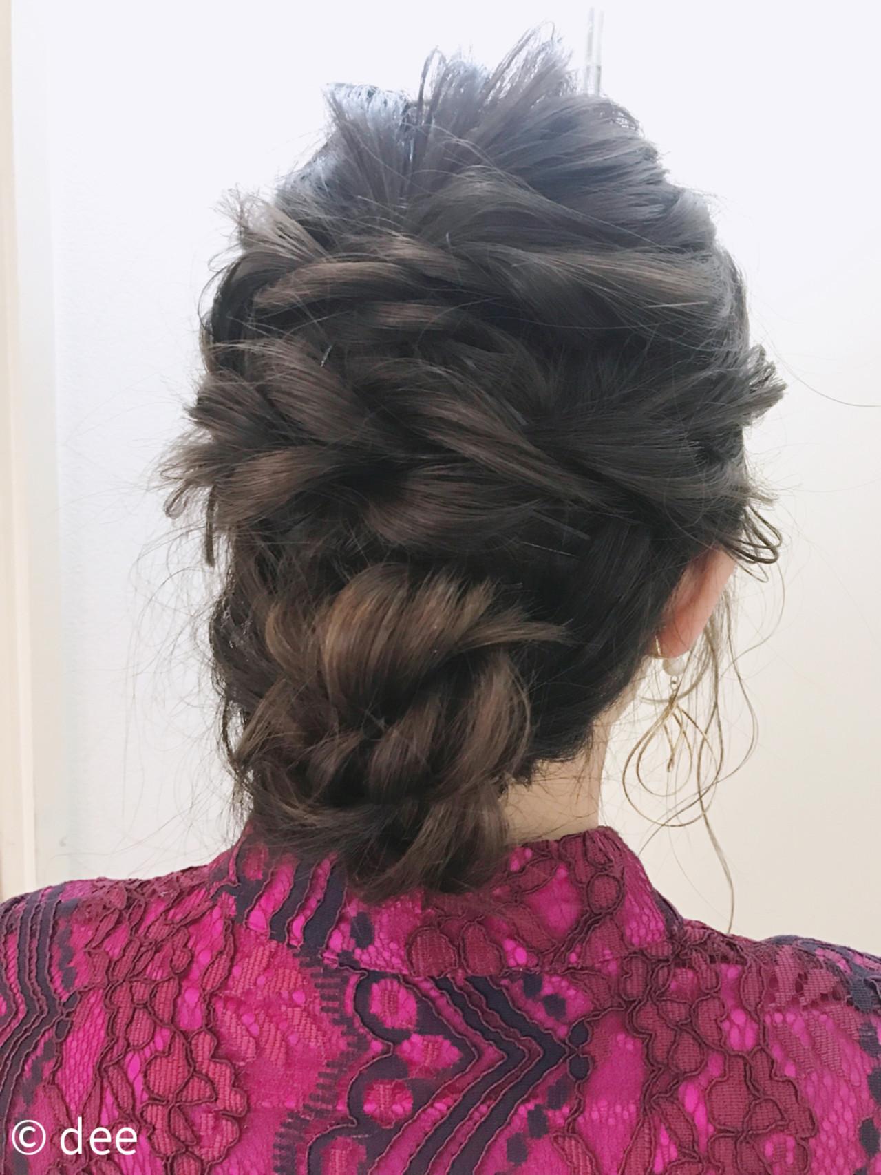 ロープ編み ナチュラル ヘアセット 編み込み ヘアスタイルや髪型の写真・画像