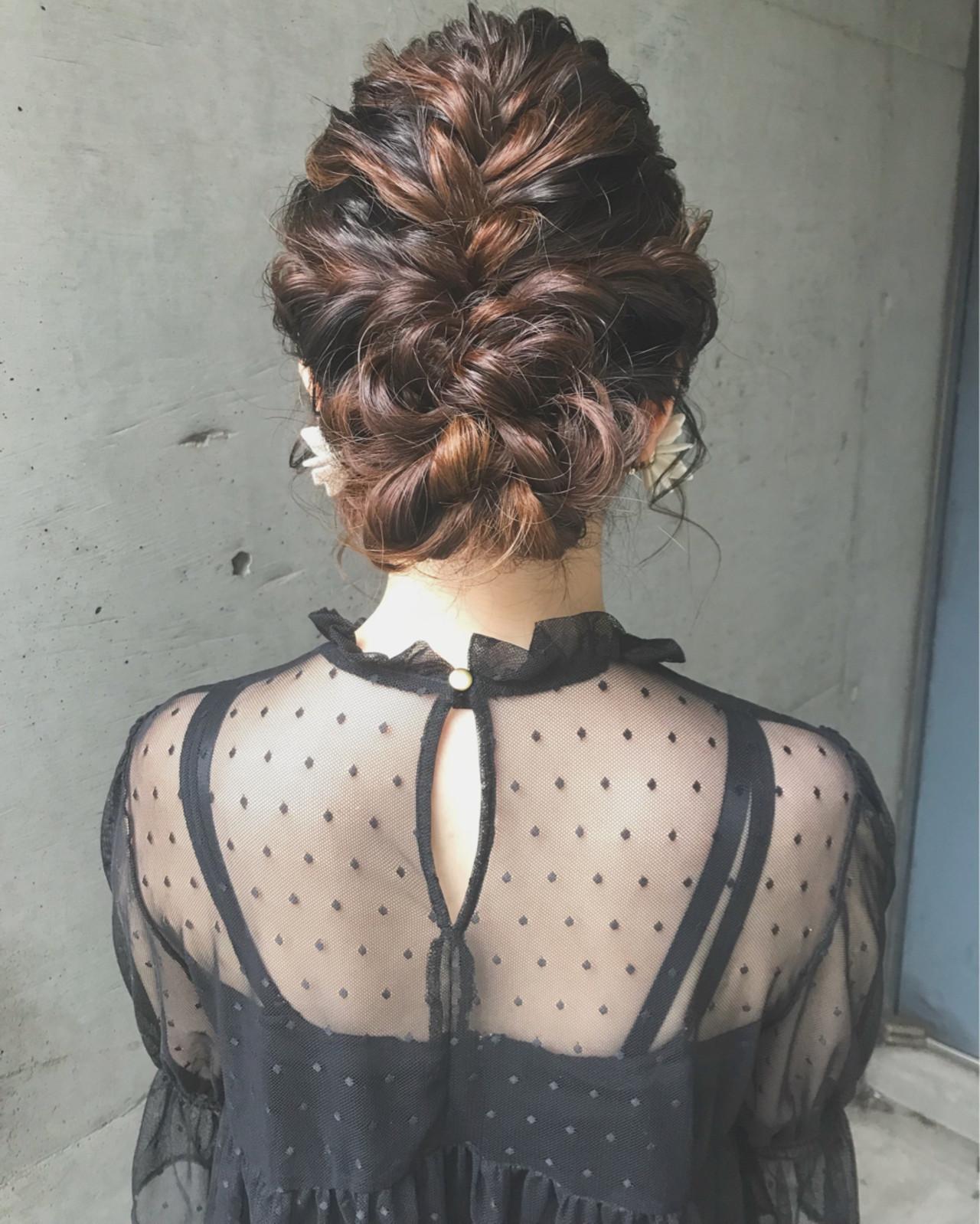 結婚式 ボブ フェミニン アップスタイル ヘアスタイルや髪型の写真・画像 | ♡ m i w a ♡schritt渋谷 / schritt (シュリット)渋谷