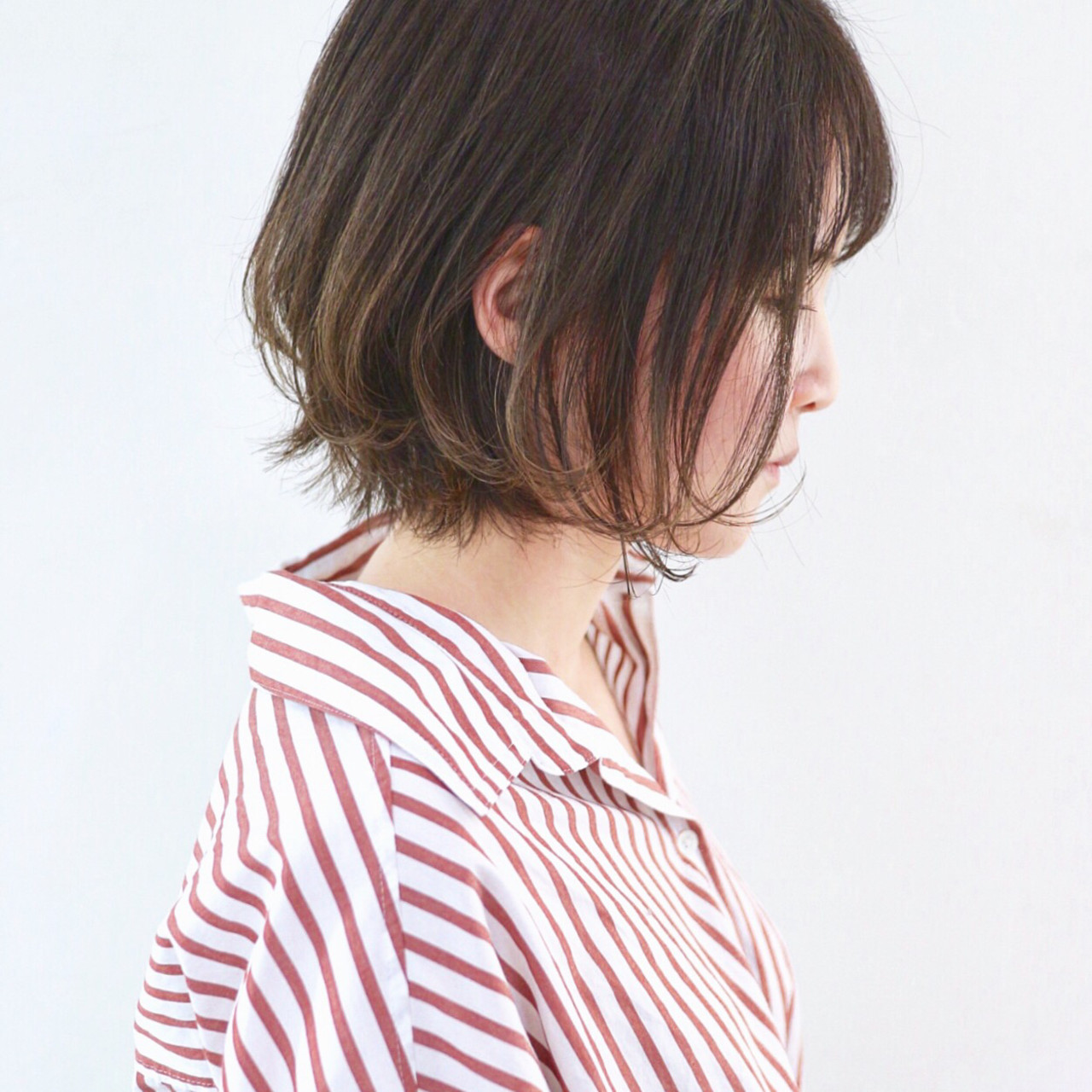 外ハネボブ グラデーションカラー ナチュラル 外国人風カラー ヘアスタイルや髪型の写真・画像
