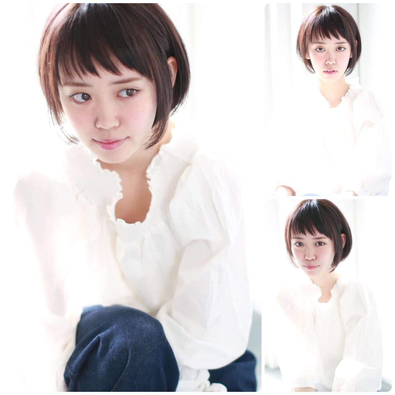グレージュ イルミナカラー ナチュラル ショート ヘアスタイルや髪型の写真・画像