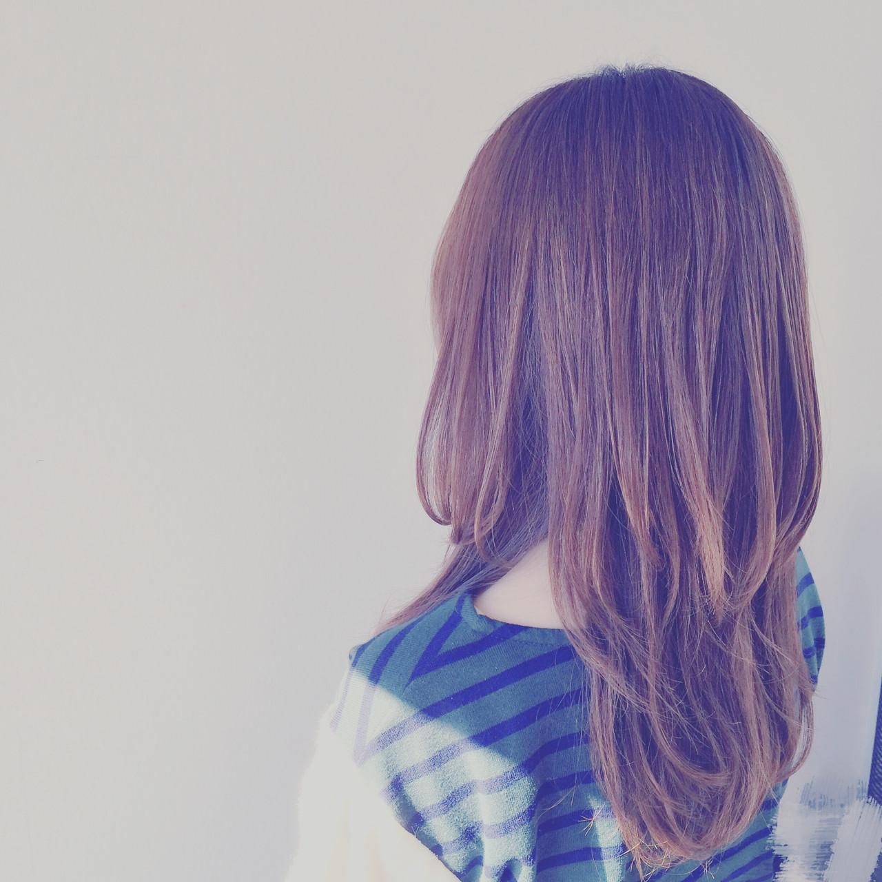 ゆるふわ ストレート フェミニン モテ髪 ヘアスタイルや髪型の写真・画像