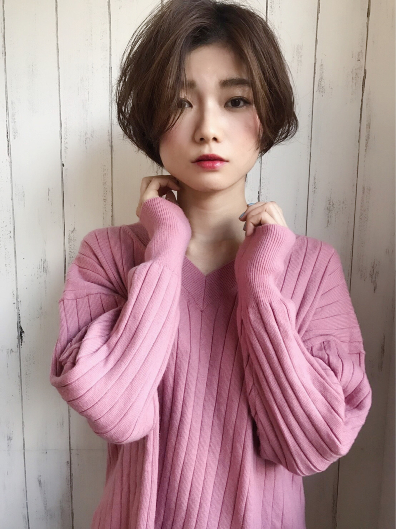 バレンタイン オフィス フェミニン ショート ヘアスタイルや髪型の写真・画像