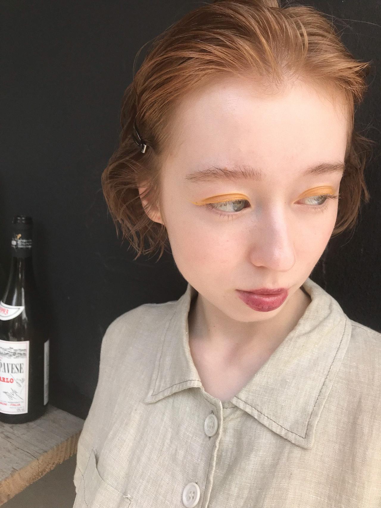 グラデーションカラー ボブ ミニボブ ハイライト ヘアスタイルや髪型の写真・画像