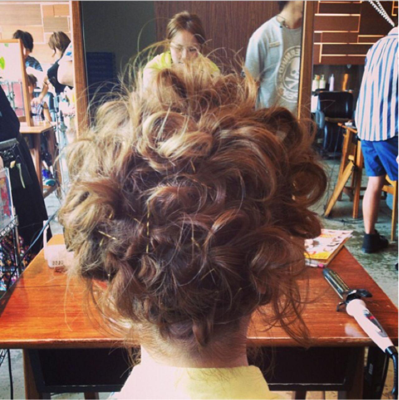 パーティ ヘアアレンジ ボブ アップスタイル ヘアスタイルや髪型の写真・画像 | 一番合戦 彩 / drive for garden