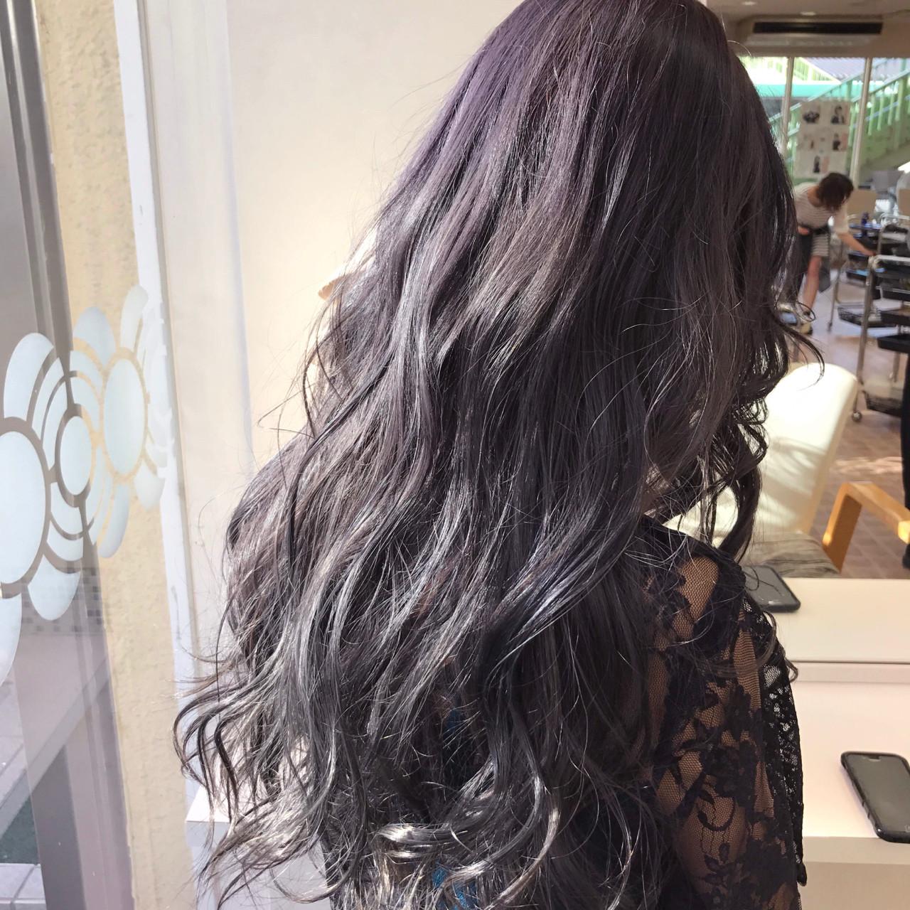 デート ガーリー グラデーションカラー 透明感 ヘアスタイルや髪型の写真・画像 | YSO / 電髪倶楽部street