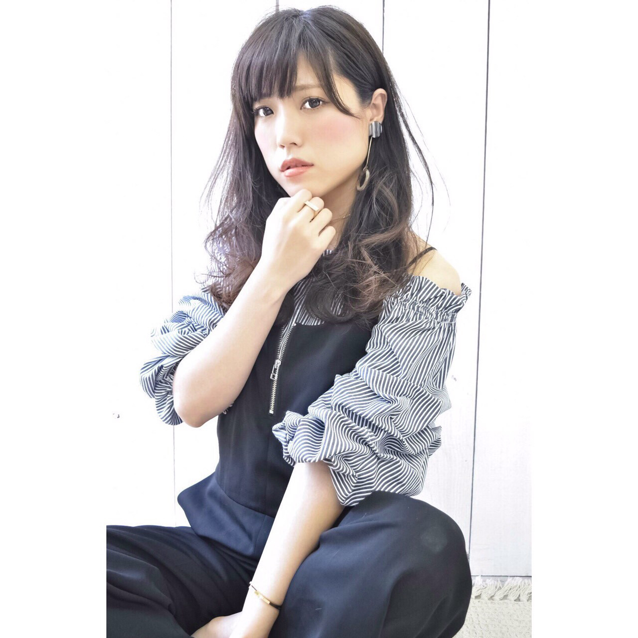 秋 ナチュラル 透明感 色気 ヘアスタイルや髪型の写真・画像 | Marika Yoshioka /