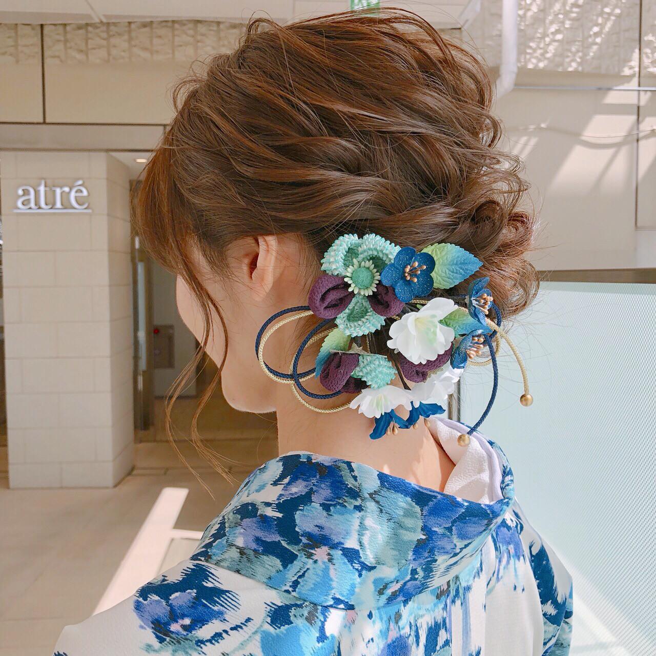 和装 アップスタイル 上品 エレガント ヘアスタイルや髪型の写真・画像