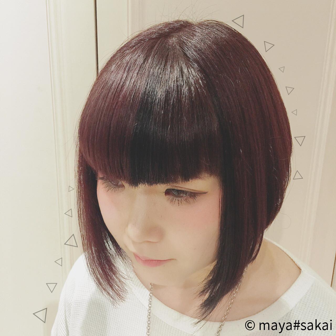 色気 ローライト ボブ 艶髪 ヘアスタイルや髪型の写真・画像