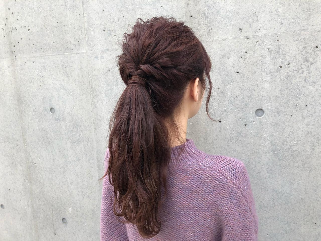 簡単ヘアアレンジ セミロング アンニュイほつれヘア ナチュラル ヘアスタイルや髪型の写真・画像   Daiki Yamashita / vicca