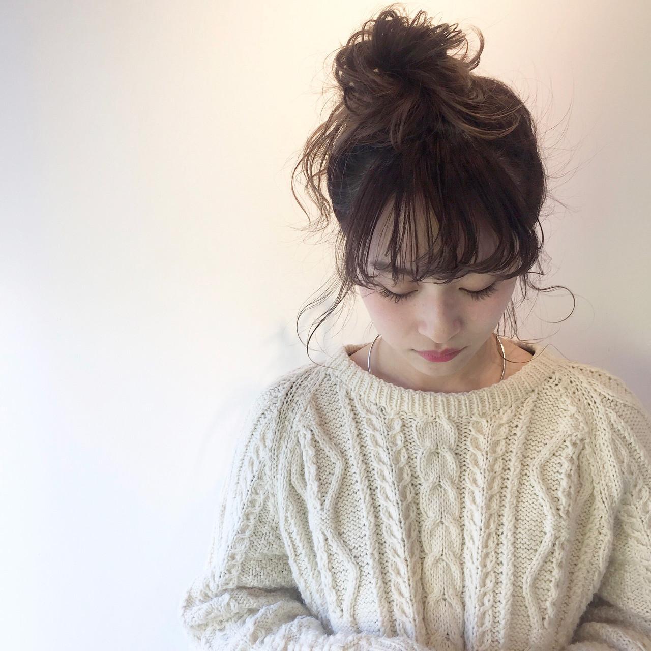 ナチュラル ハーフアップ ミルクティー 簡単ヘアアレンジ ヘアスタイルや髪型の写真・画像