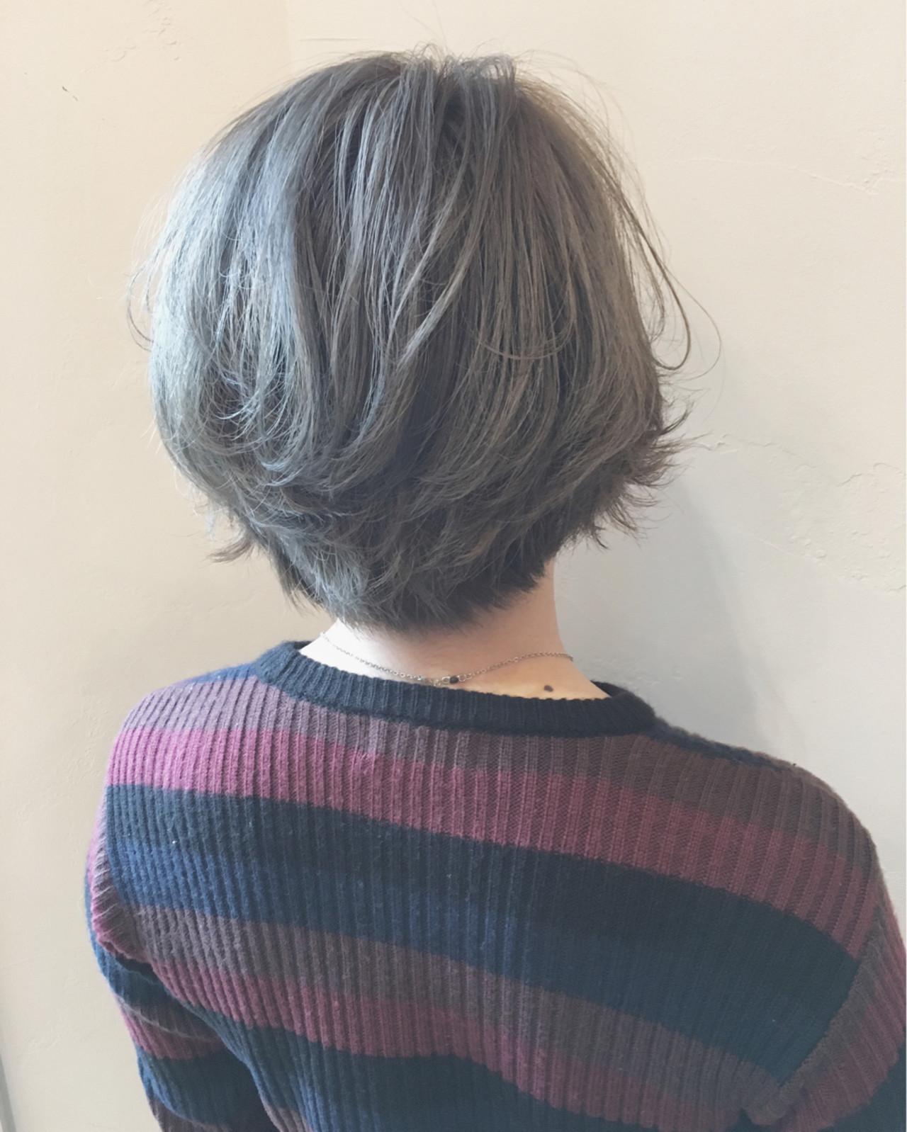 ボブ パーマ イルミナカラー ガーリー ヘアスタイルや髪型の写真・画像 | 須賀 ユウスケ / Rizm
