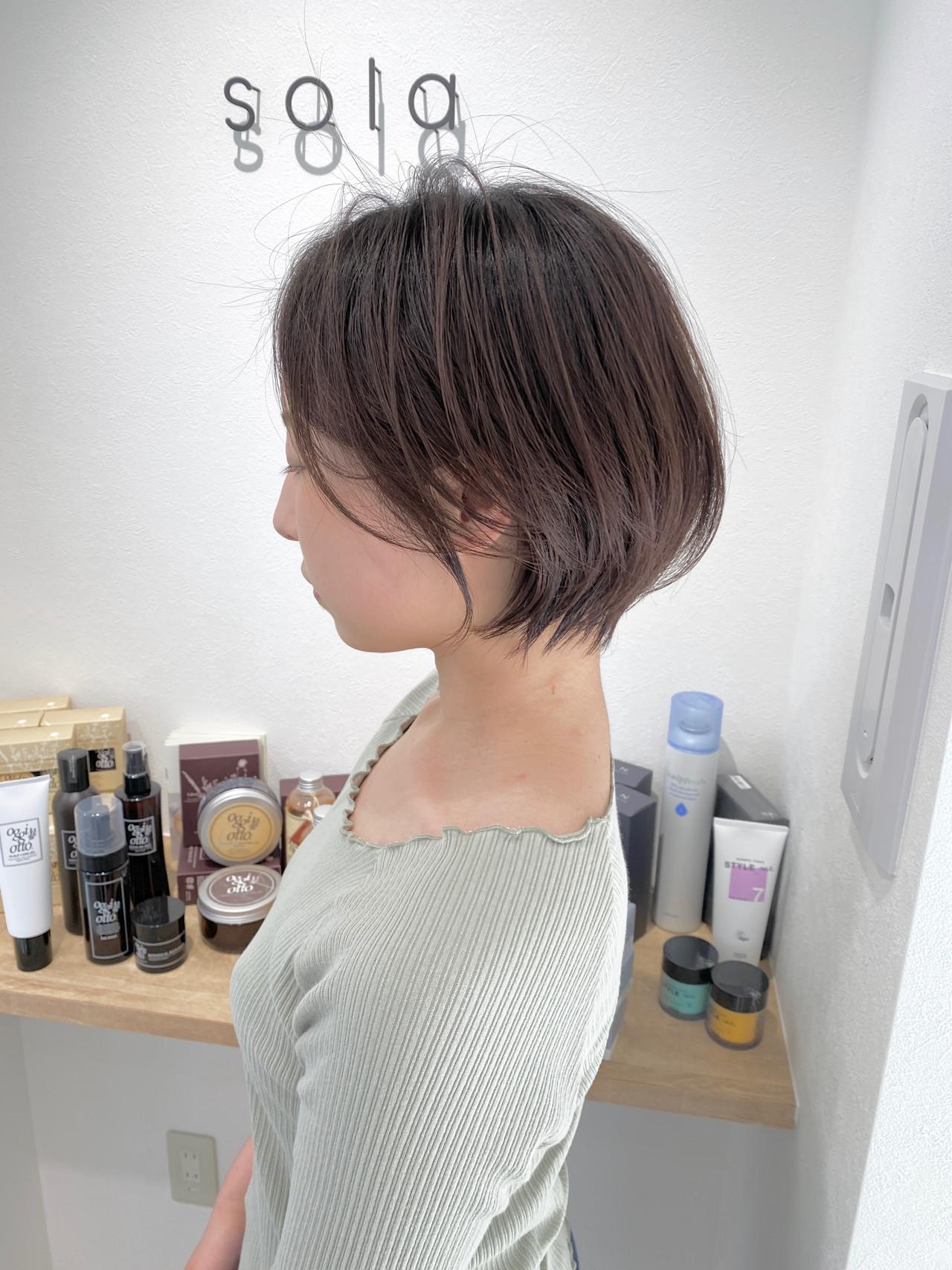 ショートボブ ボブ ナチュラル ショートヘア ヘアスタイルや髪型の写真・画像   金子ひろゆき / sola