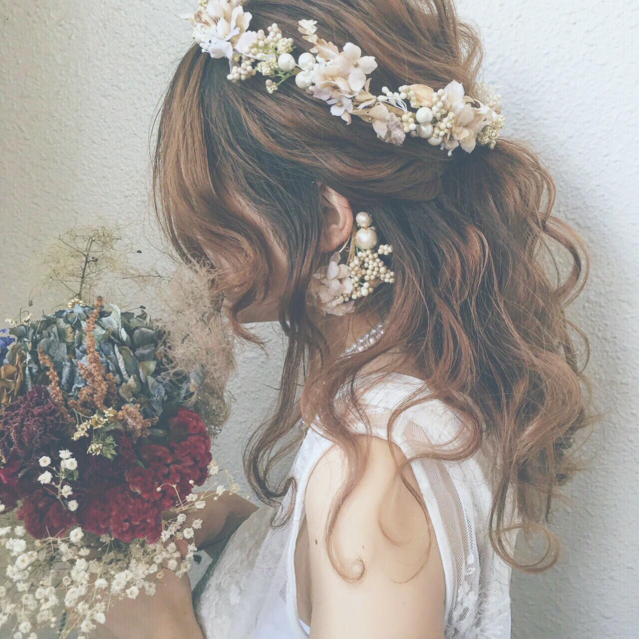 ウエディングドレス向けヘアスタイル♡人生で1番美しい私になれる髪型10選 カワノ ヨウヘイ