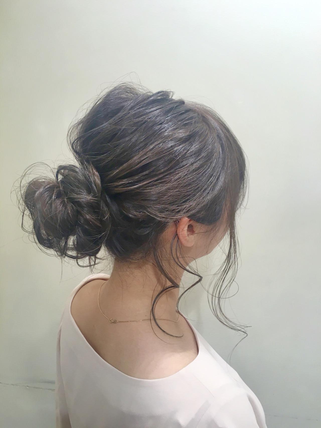 ヘアアレンジ ボブ お団子 簡単 ヘアスタイルや髪型の写真・画像 | 佐伯 優 / e.m.a ASSORT