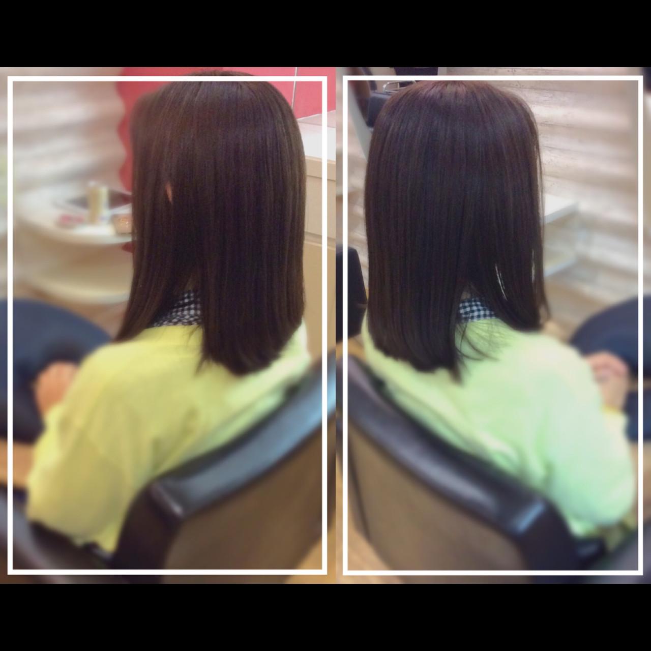 髪質改善トリートメント 艶髪 髪質改善 大人ヘアスタイル ヘアスタイルや髪型の写真・画像