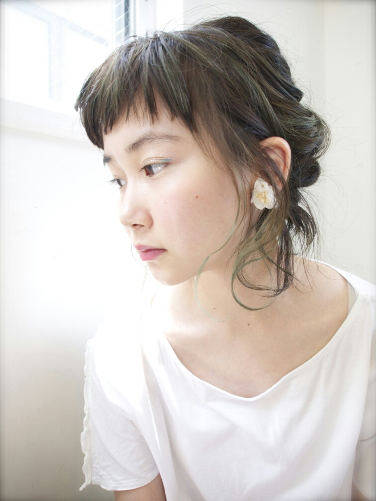 くるりんぱ ミディアム 簡単ヘアアレンジ ヘアアレンジ ヘアスタイルや髪型の写真・画像