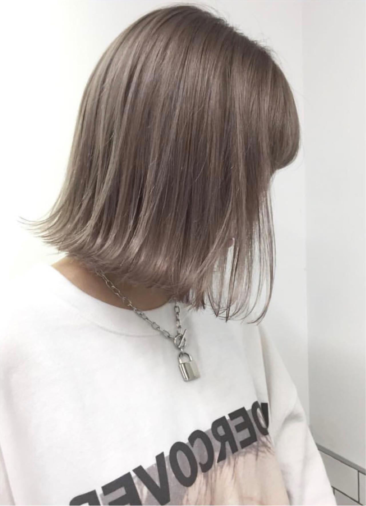 ハイライト ボブ ストリート ヘアアレンジ ヘアスタイルや髪型の写真・画像   ALT 森田 正浩 / ALT