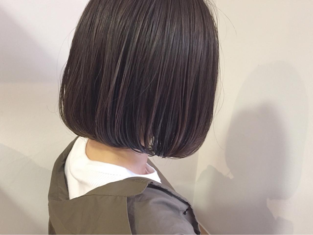 秋 オフィス 透明感 切りっぱなし ヘアスタイルや髪型の写真・画像 | KENTO.NOESALON / NOE SALON
