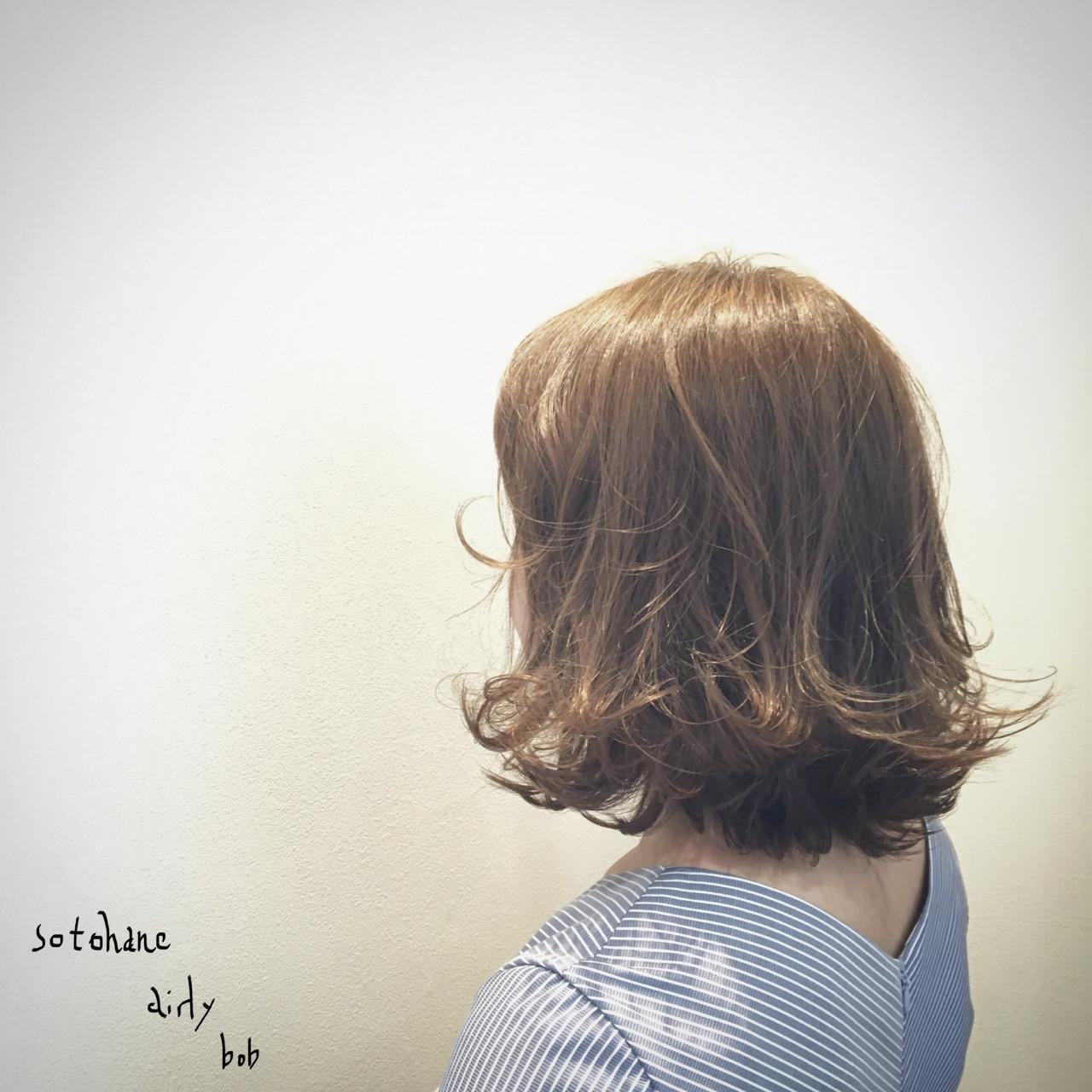 エアリー 外ハネ ストリート 抜け感 ヘアスタイルや髪型の写真・画像