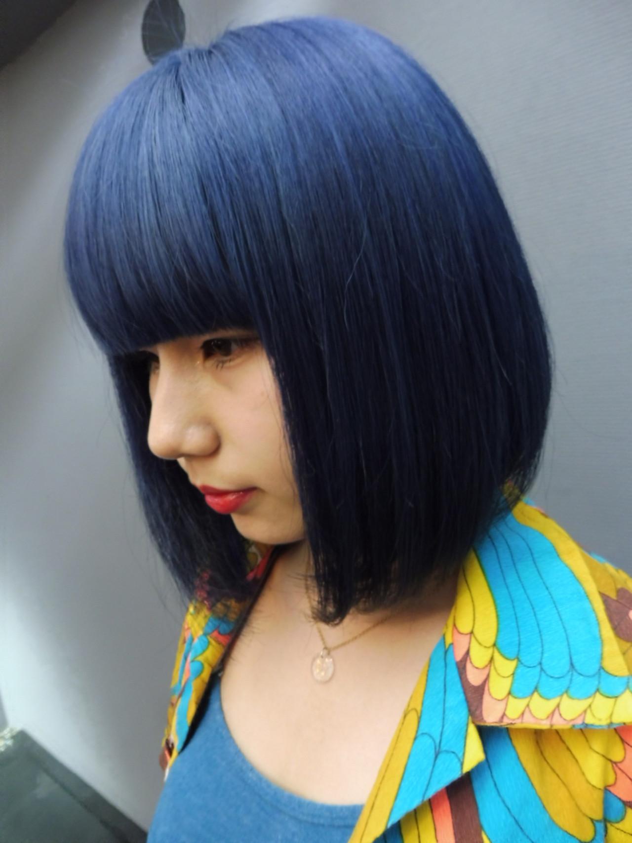 ブルー ストリート ネイビー ブルージュ ヘアスタイルや髪型の写真・画像