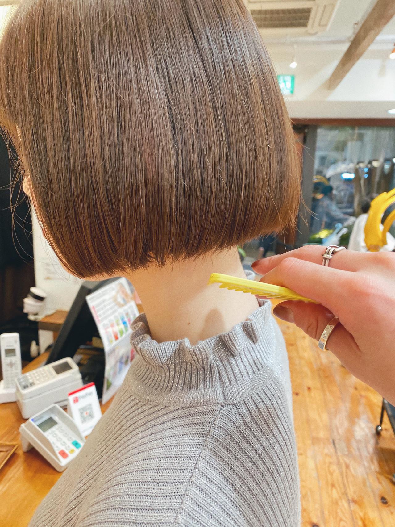 モテボブ 切りっぱなしボブ ボブ ボブヘアー ヘアスタイルや髪型の写真・画像