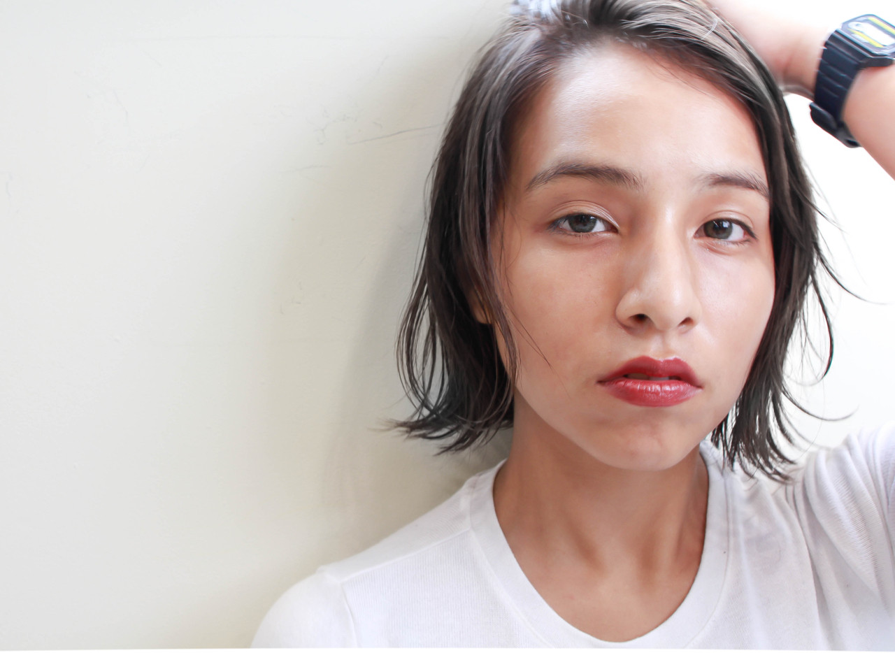 ナチュラル 外ハネ 透明感 似合わせ ヘアスタイルや髪型の写真・画像